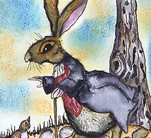 DESTINATIONALLY CHALLENGED HARE by Hares & Critters