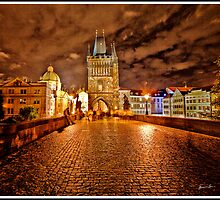 Charles Bridge At Night - Prague - Czech Republic by Madeline Bush Ellis