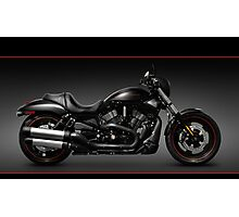 Black Harley Davidson VRSCD Night Rod motorcycle art photo print Photographic Print