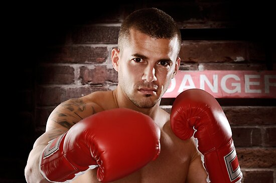 Fighter in boxing gloves art photo print by ArtNudePhotos