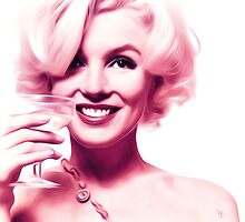 Marilyn Monroe - Tickled Pink Champagne - Pop Art by wcsmack