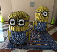 Canstruction, Sculpture Made of Food Cans, World Financial Center, New York City by lenspiro