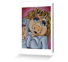 Miss Piggy, Professor River Song Greeting Card