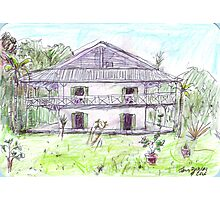 Doctor's House, Old Leprosy Colony, Curieuse Island Photographic Print