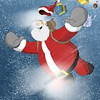 "Christmas Card ""Santa Leap"" by specialk73"