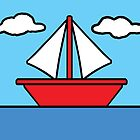 Simpsons Sailboat by FinlayMcNevin