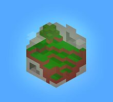 Minimalistic Minecraft Cube World by iRefine