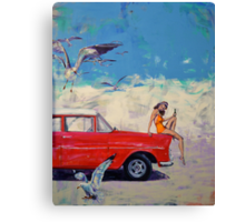 Bang Soda and more birds than you can poke a stick at. Canvas Print