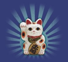 Japanese/Chinese Lucky Cat (Vintage Distressed) by robotface