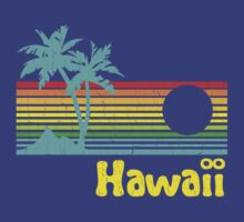 Vintage 80s Hawaii (Distressed Design) by robotface