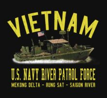 Vietnam US Navy River Patrol PBR (Vintage Distressed) by robotface