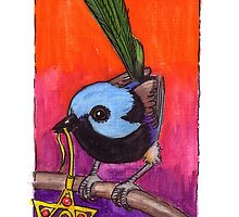 kmay xmas fairy wren star by Katherine May