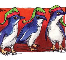kmay xmas fairy penguin elves by Katherine May