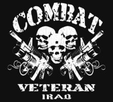 Combat Veteran IRAQ (Vintage Distressed Design) by robotface
