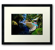 Island Paradise: Alley to the Caribbean, Dominica Framed Print