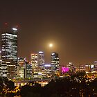 MoonRise Over Perth  by Pene Stevens