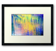 Sunny day by the river Framed Print
