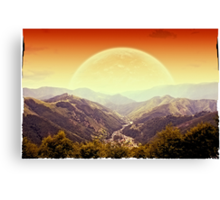 Highlands sunset Canvas Print