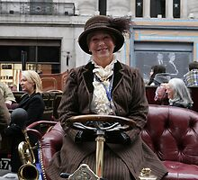 A contestant at the Regent Street Motor Show 2013 by Keith Larby