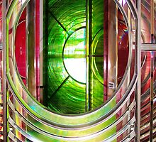 Dungeness Lighthouse Lens  by John Gaffen