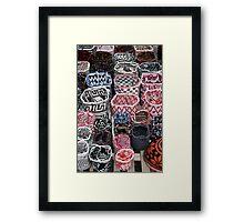 Knit Bags Framed Print