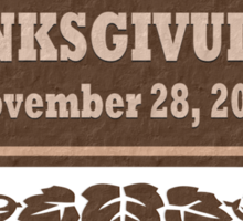 Thanksgivukkah November 28 2013 Sticker