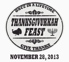 Grey Vintage Celebrate Thanksgivukkah by xdurango