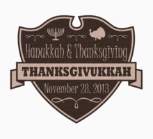 Once in a Lifetime Thanksgivukkah Crest by xdurango