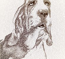 The old wise basset by BelleFlores