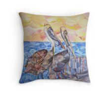 Pelicans Throw Pillow