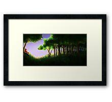 Tomte & Friends Midnight Sun Framed Print