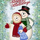 Snow Family Glitter and Snowflakes by SpiceTree