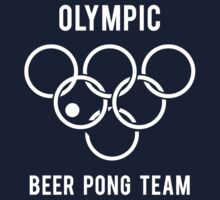 Olympic Beer Pong by kelvclothing