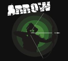Arrow - Oliver Queen Target T-Shirt by gofreshfeelgood