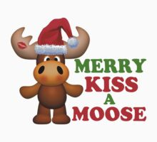 Cute Merry Kiss A Moose Christmas by FireFoxxy