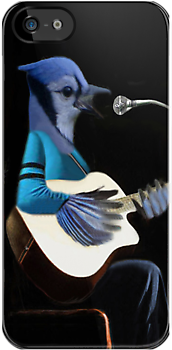 •♪♫•*¨*•BLUE JAY PLAYING GUITAR IPHONE CASE•♪♫•*¨*• by ╰⊰✿ℒᵒᶹᵉ Bonita✿⊱╮ Lalonde✿⊱╮