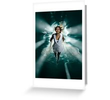 Beautiful Woman Diving in the Water art photo print Greeting Card