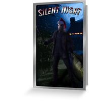 Silent Night Friday the 13th Holiday Card Greeting Card