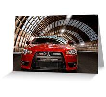 2008 Mitsubishi Lancer Evolution X art photo print Greeting Card