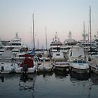 Boats on a Wharf  by RachelSheree
