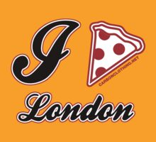 I Love Pizza London by CarbonClothing