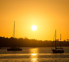 Sunset at Lakes Entrance 2 by Johann Vandendaallen