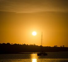 Sunset at Lakes Entrance 3 by Johann Vandendaallen