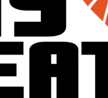 Basketball - My heart beats orange Sticker