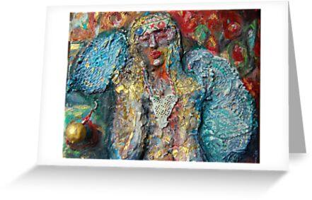 Angel with Blue Wings by Diane  Kramer
