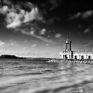 Sunken Church at Normanton BW by Andy Freer