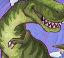 Tyrannosaurus Christmas Sticker