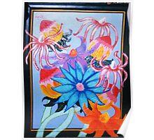 fluttery flowers Poster