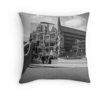 Mason College, Chamberlain Square 1960, Black & White Throw Pillow