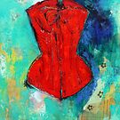 Fire Red Corset by Maria Pace-Wynters